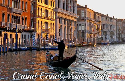 Gondola at Grand Canal, Venice, Italy